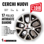 CERCHI NUOVI 17'' ANTHRACITE DIAMOND